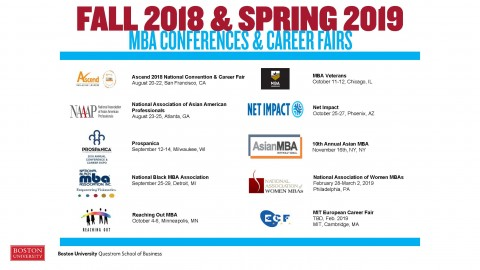 MBA Career Conferences – Fall 2018 & Spring 2019