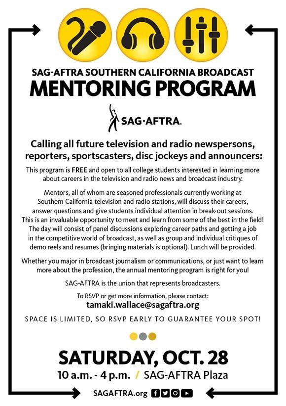 SAG-AFTRA Southern CA Broadcast Mentoring Program thumbnail image