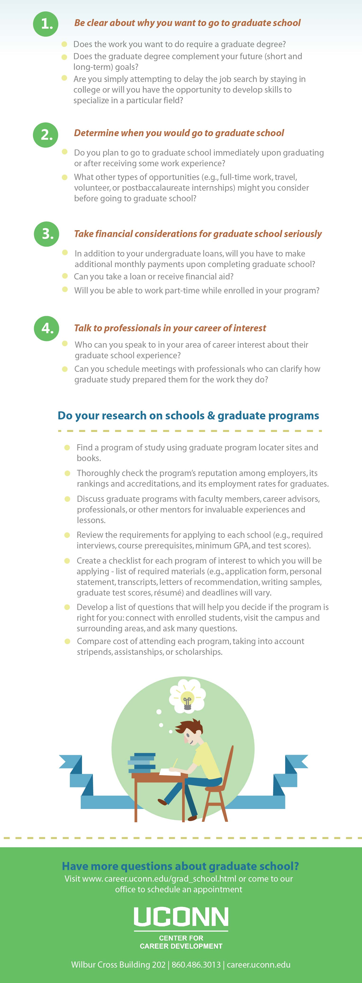 how to decide if graduate school is right for you uconn center how to decide if graduate school is right for you uconn center for career development