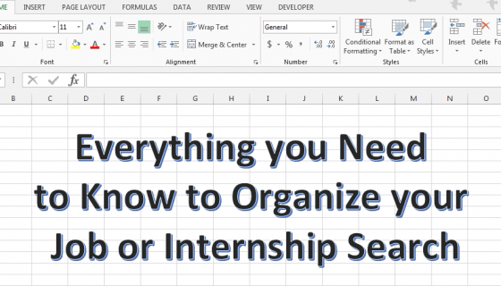 organizing your job search